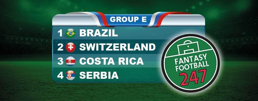 Fantasy World Cup Russia Group E Guide