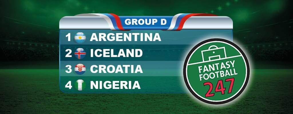 Fantasy World Cup Russia Group D Guide
