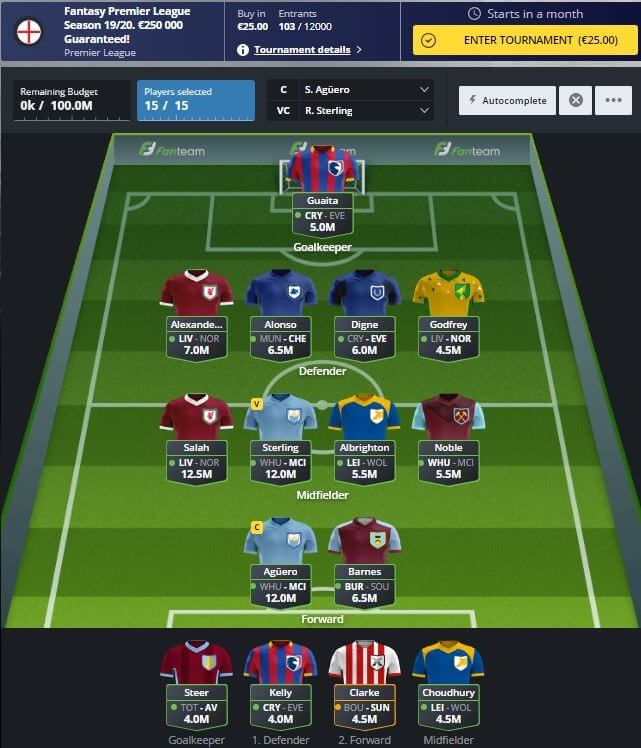 Fanteam offers a €250,000 Fantasy Premier League Season Tournament