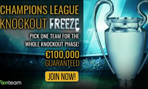 Introducing the €100,000 Champions League Knockout Freeze Tournament