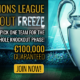 Introducing the €100,000 Champions League Knockout Freeze Tournament