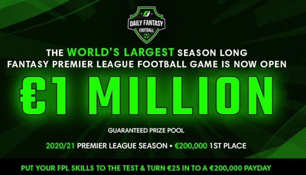 Win your share of €1,000,000 playing Fantasy Premier League football this season